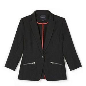 Christian Siriano Ponte black blazer sz L